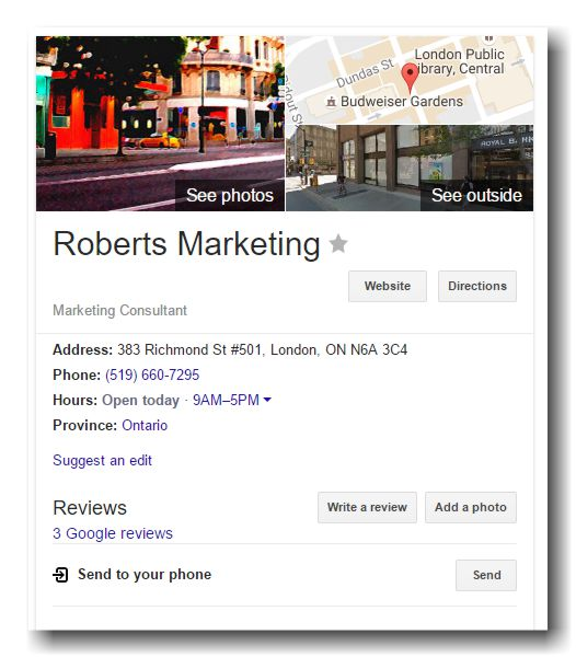 roberts-marketing-google-listing